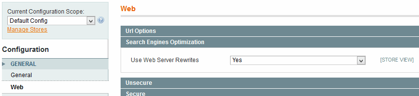 Use web server Rewrites